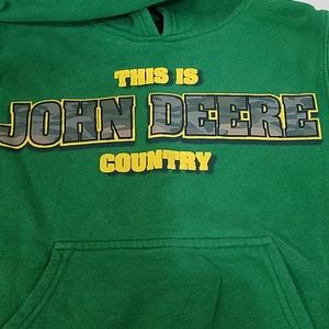 John Deere Country Green Hoodie Sweater 8 S